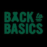 Logo Back to basics - donker groen